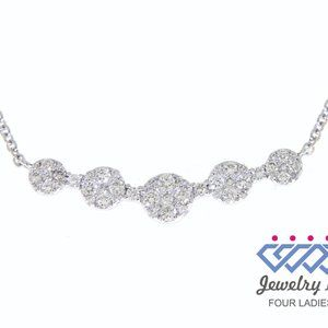 Cluster Diamond Fancy Wedding Necklaces White Gold